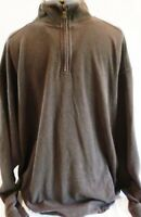 Tommy Bahama-Mens Pullover Sweater-Extra Large-XL, 100% Cotton, Brown, ¼ Zip