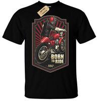 Né To Ride T-Shirt Hommes 1960 Motard Moto Rider