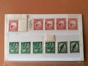 New Zealand - MNH Variation Stamps 1935 1936 1941 SGs 557 578 567 588 noted