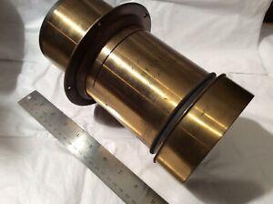 Massive Hermagis Brass Lens Eidoscope F5 Number 1 Paris #47 xxx RARE!