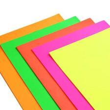 12 Fogli di A4 alta qualità NEON Cartoncino Colori Assortiti Scrapbooking