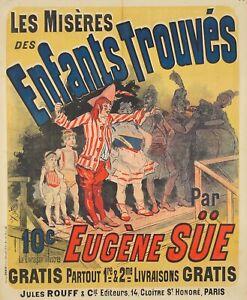 Original Vintage Affiche Cheret Enfants Trouves 1886 Enfants Hôpital Roman