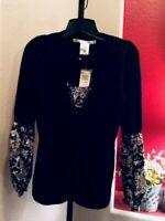 Max Studio Women's Sz XS Long Sleeve Layered Look Cardigan Sweater Blouse