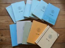 11 Masonic Year Books 1981 + 1985 - 1994 Province of Cambridgeshire