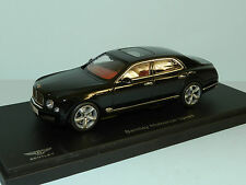 Kyosho 1/43 Bentley Mulsanne Speed Onyx MiB