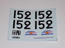 1/24 decals sheets of Ferrari 250 SWB Tour De France 1962 Car #152          #140