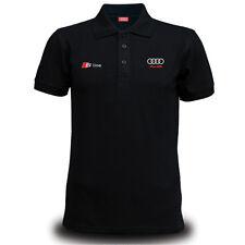Genuine Audi S Line Car Racing Team Streetwear MotorsportBlack Men Polo T-Shirt