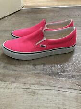 VANS Womens Neon Pink Slip On Shoes, UK 8, EUC