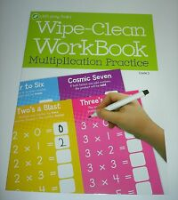 """Let's Grow Smart 11"""" x 8"""" Wipe-clean Multiplication FACTS Practice From 0-10"""