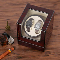 Watch Winder Box Display Wood  Organizer Case Double Luxury Double Automatic BB1