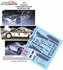 Decals 1/24 réf 1517  Lancia 037 A.Bettega/M.Perissinot Monte Carlo 1984