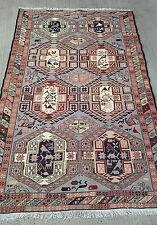 Tapis kilim tissé fait main laine-soie rugs teppich tappeto alfombra 203X123cm