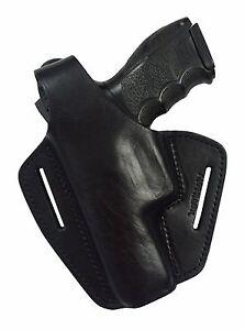 B2Li Leder Holster für HK P30 Heckler und Koch P30L H&K LINKS schwarz VlaMiTex