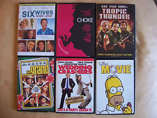 Lot of six comedy DVDs Vince Vaughn Owen Wilson Ben Stiller Jack Black