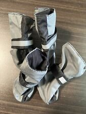 Top Paw Gray Black Rubber Soled Waterproof Dog Booties Size Small Euc sporty Pup