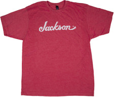 Jackson Logo Tee Shirt Heathered Red Small
