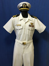 USN DRESS LCDR  TOP GUN  WHITE UNIFORM+RIBBONS+ INSIGNIA.+HAT,. MOST SIZES