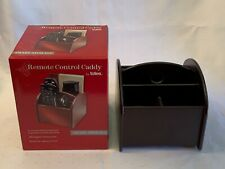 Totes Remote Control Caddy Smart Storage Rosewood Finish 360 Turn 5 Compartments