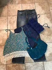 Junior Lot Size Medium Tops Size 5 Jeans Necklaces And Purse