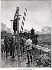 Mantova: i Martiri di Belfiore. Di Matania. Risorgimento + Passepartout. 1889