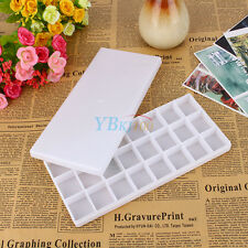 Artist Plastic 24 Well Watercolor Paint Painting Tray Art Drawing Mixing Palette