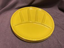Yellow Metal Plates Made In Japan Set Of Four