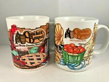 Cracker Barrel Old Country Store Coffee Tea Cup Mug Set of 2