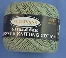 Cottage Green 4 ply Crochet or Knitting Cotton