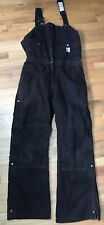 CARHARTT WOMENS insulated heavy Denim  BIB OVERALLS Womens 12 X 30 work winter
