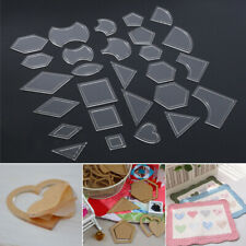 54pcs Acrylic Quilting Templates Sewing Stencils Patchwork Ruler Sewing DIY Tool