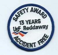 USF Reddaway safety award 13 years accident free driver patch 2-3/4 dia #1192