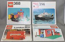 Lego 4 Beschreibungen 314, 361, 368, 760 ohne Modell!