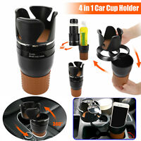 4 in 1 Multifunction Car Seat Cup Holder Water Bottle Drink Coffee Adjustable
