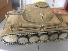 "CUSTOM 1/6 PANZER II TANK WWII GERMAN AFRIKA KORPS ROMMEL 12"" FIGURE DID DRAGON"