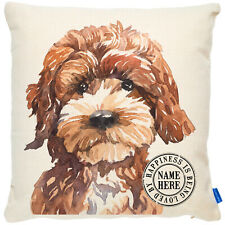 More details for personalised cockapoo cushion cover portrait dog pillow pup birthday gift kdc14