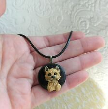 Cairn Terrier Necklace Sculpted Clay by Raquel from theWrc