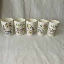 Melitta 5 Saftbecher Keramik Becher 1-28 Italien 50er Jahre Italy