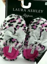 Laura Ashley girls slippers. size SMALL 11-12 non slip soles *NEW*