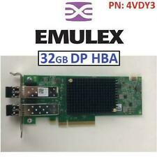 EMULEX DUAL PORT 32GB HBA   4VDY3 DELL HOST BUS ADAPTER LPE35002