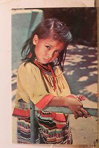 Indian Native American Child Postcard Old Vintage Card View Standard Souvenir PC