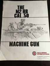 Saco Defense System Division The M2 Hb Cal .50 Machine Gun Pamphlet