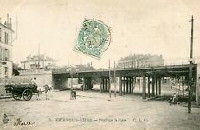 Carte VITRY SUR SEINE Pont de la Gare Passage du Train