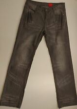 EUC V Cristina Embellished Gray Whiskered Straight Jeans Size 6