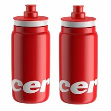 Elite Fly Cervelo Cycling Water Bottles - Red, 550ml (2 Pack)