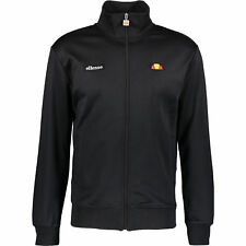 ELLESSE Men's Black Zipped Track Sweat Jacket, Medium