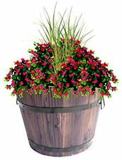 """Extra Large Wooden Whiskey Barrel Planter 18"""" Dia x 14"""" High"""