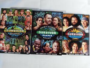 Survivor Borneo, pearl islands and all stars region 1.