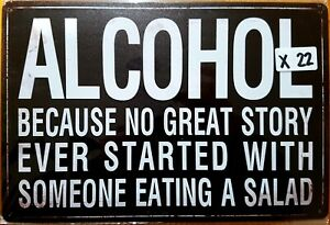 Alcohol Funny Tin Sign Bar Shed & Man Cave Signs AU Seller