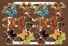 Vintage Butterfly Scrap Reliefs Decoupage Crafts Retro 2001 Mamelok Press #1986
