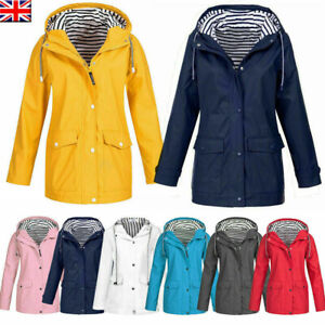 Womens Hooded Coat Wind Jacket Ladies Plus Size Forest Macs Hoodies Outwear